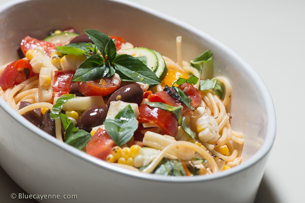 Pasta with Marinated Tomatoes-2
